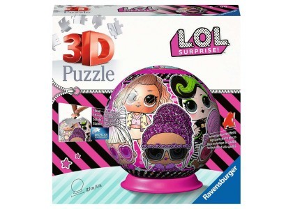 Kula: LOL Surprise 72 elementy Puzzle 3D Ravensburger 11162