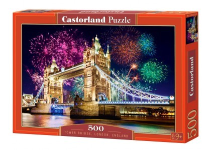 Tower Bridge, Anglia 500 elementów Puzzle Castorland 52592